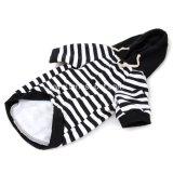 De zwarte Witte Gestreepte Katoenen Laag van de Hond voor Middelgrote Grote Huisdieren