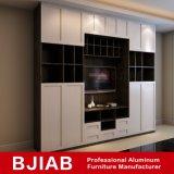 Customized Ouro moderno mobiliário doméstico de Carvalho Suporte de TV de alumínio