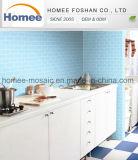 Metro van de Tegels van het Glas van het Mozaïek van de Keuken van de decoratie de Blauwe