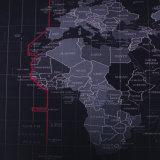 직업적인 속도와 통제 피복 선전용 도박 마우스 패드 Worldmap