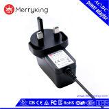 Соединенное Королевство 3 контакт 12V 1,5A Источник питания постоянного тока AC адаптер CE GS BS сертификатов