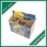 Изготовленный на заказ печать цвета коробка несущей бутылки 6 пакетов