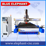 Cortadora oscilante de tira de cuero del CNC del cuchillo del CNC 2050 azul del elefante con el precio de fábrica para la espuma de cuero de la alfombra