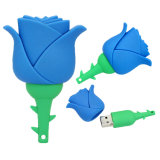 Pen Drive Cartoon Red Rose espécies de flores a granel Unidade USB Flash Memory Stick