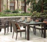 Tabella pranzante del rattan della casa dell'hotel dell'ufficio del giardino del quadrato esterno di Barcello e presidenza (J6351)