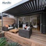 Pergola imperméable à l'eau de toit en métal de jardin électrique