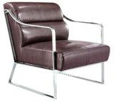 ステンレス鋼の革ホテルのロビーの余暇の椅子