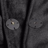 Capo gotico del velluto di inverno delle donne di colore della strega Opy-214 con il cappotto del cappuccio