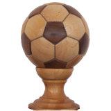 Decorazione di legno di gioco del calcio fatta da Walnut e dall'acero