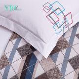 Hotel de luxo confortável Bedsheets impressos do algodão