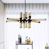 Современный дизайн висящих подвесной лампы освещения люстра с коньяк стекло оттенков, в гостиной и столовой, ресторане отеля