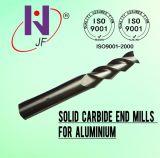 高性能のアルミニウムのための固体炭化物2/3のフルートの端製造所