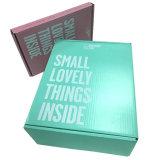 速い配達は印刷されたロゴの靴の包装の紙箱を波形を付けた