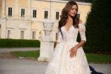 肩の半分の袖の球の花嫁の婚礼衣裳を離れて