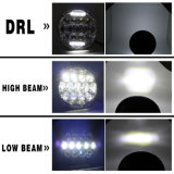 Feu de stationnement aux yeux de l'angle de 75W 12V Projecteur LED DRL ronde de 7 pouces de Jeep Wrangler Projecteur à LED