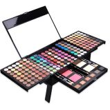 Professional 194 Color Makeup Kit, 4 Pernas Cauldron Design Kit de maquiagem, Corar Eyeshadow Paleta pente para sobrancelhas