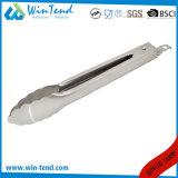 L'acciaio inossidabile molti gradua le tenaglie secondo la misura dell'alimento con l'amo per buffet