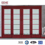 Internal Top Hung Sliding Wooden DOOR with Glass Design