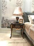 0070-1 il legno solido ha coperto l'impiallacciatura di lusso di alta Tabella di notte della pittura di lucentezza