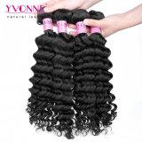 Rohe Jungfrau-Haar-kambodschanische Haar-tiefe Wellen-natürliche Farbe