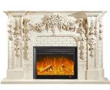 Cheminée fixée au mur de la vente 2017 de mode de cheminée de garniture intérieure de contrôleur d'intérieur chaud de la chaleur avec le thermostat de contrôle de $$etAPP