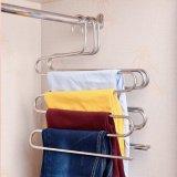 O S-Tipo mágica de múltiplos propósitos do aço inoxidável arfa a cremalheira do armazenamento da poupança do espaço dos ganchos do armário dos ganchos para o lenço de suspensão das calças de brim