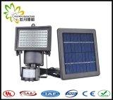 工場価格!! 白色光、60PCS SMD3528 LED、3.6W、420lmの太陽機密保護ライト、動きセンサー+一定したライト+光量制御!! 屋外の庭か壁または中庭