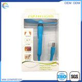 Mini ventilateur rechargeable portatif d'USB avec l'éclairage LED