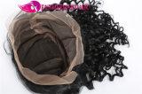 최신 판매 Virgin 브라질 머리 꼬부라진 파 레이스 가발
