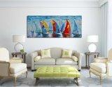 Bote artesanal y el buque Óleo sobre lienzo para decoración de pared
