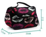 Trucco dell'organizzatore della signora Makeup Bag Toiletry Bag di corsa del sacchetto cosmetico degli orli delle donne di modo il grande mette Trousse Maquillage