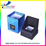 Diseño OEM Papel Negro Caja de regalo con flocado insertar