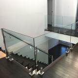 옥외 Tempered 박판으로 만들어진 유리 방책 발코니 Frameless 유리 난간