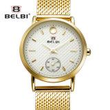 Belbi 패션 비즈니스 방수 석영 건전지 여자 강철 손목 시계