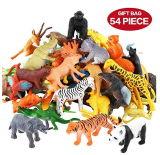 Chiffre d'animaux, mini jouets d'animaux de jungle de 54 parties réglés, animal sauvage réaliste de plastique vinyle de Valefortoy apprenant des jouets de faveurs d'usager pour des gosses de filles de garçons