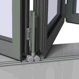 Doppia finestra Bi-Piegante di alluminio di vetro lustrata della fisarmonica della Cina ccc
