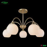 Illuminazione di vetro bianca del lampadario a bracci con il vetro rotondo (P-8104/5)