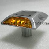 goujon solaire en aluminium lumineux de route de 6PCS DEL avec des clous