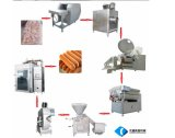 Cadena de producción del jamón/del salami de la salchicha máquinas/salchicha de /Meat que hace la máquina