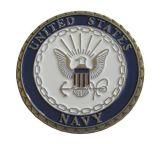 moneta del metallo di disegno 3D con argento placcato (YB-c-056)