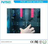 P4.81mm Die-Casting Display LED de exterior com armário de 500x500mm e 500X1000mm