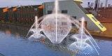 Ornamento de estacionamiento de la música muestran la Fuente de Trevi con luz láser