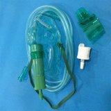 Regelbaar Medisch Zuurstofmasker voor Voor éénmalig gebruik (Groen, Volwassene die met Buizenstelsel wordt verlengd)