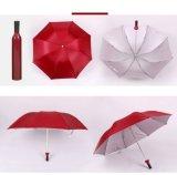 Parapluie bon marché promotionnel de bouteille de forme de vin
