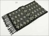 Зимы чывства кашемира женщин людей шарф печатание диаманта Unisex реверзибельной теплый проверенный толщиной связанный сплетенный (SP816)