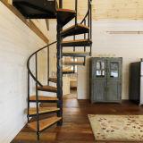 現代的な純木の炭素鋼の螺旋階段
