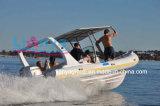 Liya 22feetの膨脹可能な肋骨のボートのガラス繊維の堅く膨脹可能なボート