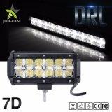 12V IP68 Offroad doble fila de la luz de día, 4X4 Angel Eyes 7 pulgadas de la barra de luz LED 36W
