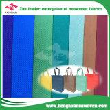 Tela no tejida de TNT para el bolso de compras corto con una variedad color