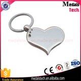 Catena chiave placcata argento poco costoso del metallo su ordinazione con il contenitore di regalo